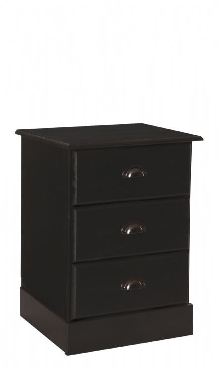 Terra bedside with 3 drawers in Pine/dark stain